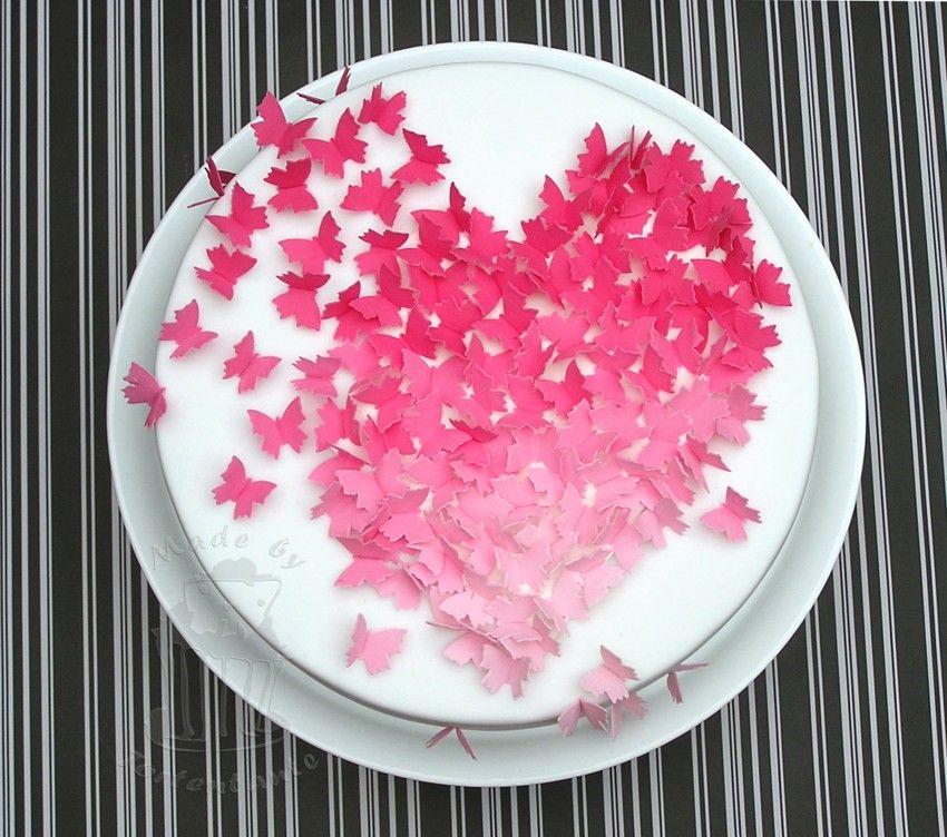 valentins torte mit schmetterlingen fondant cake pinterest. Black Bedroom Furniture Sets. Home Design Ideas