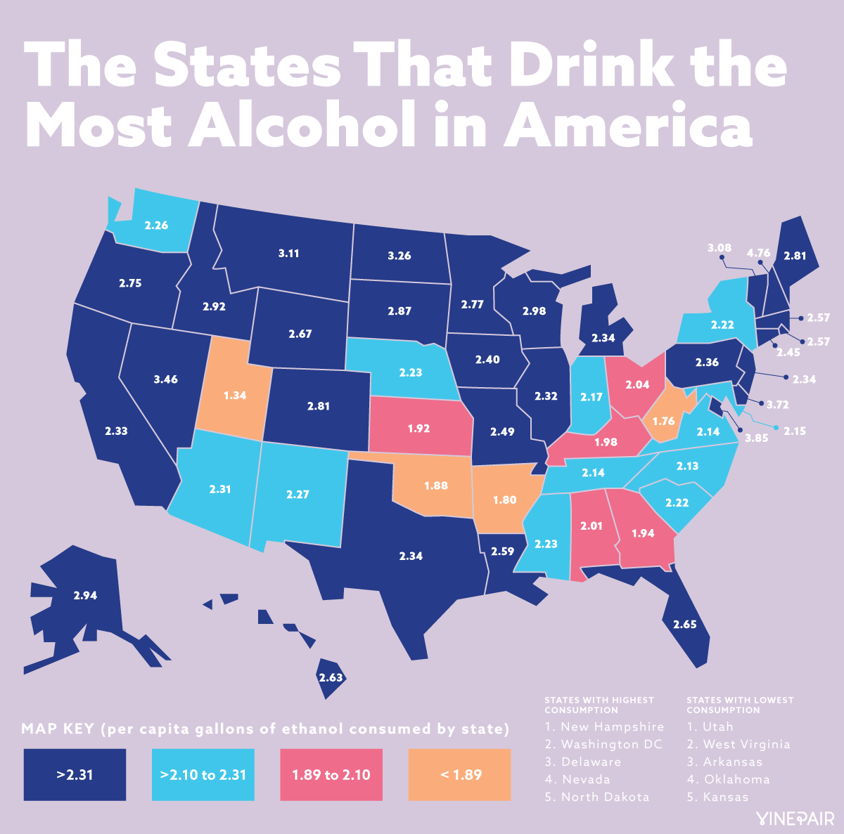 The U.S. states that drink the most alcohol | Safest places ... United States Map Alcohol on united states regional stereotypes, united states government, united states of shame, georgia alcohol, united states fun fact,