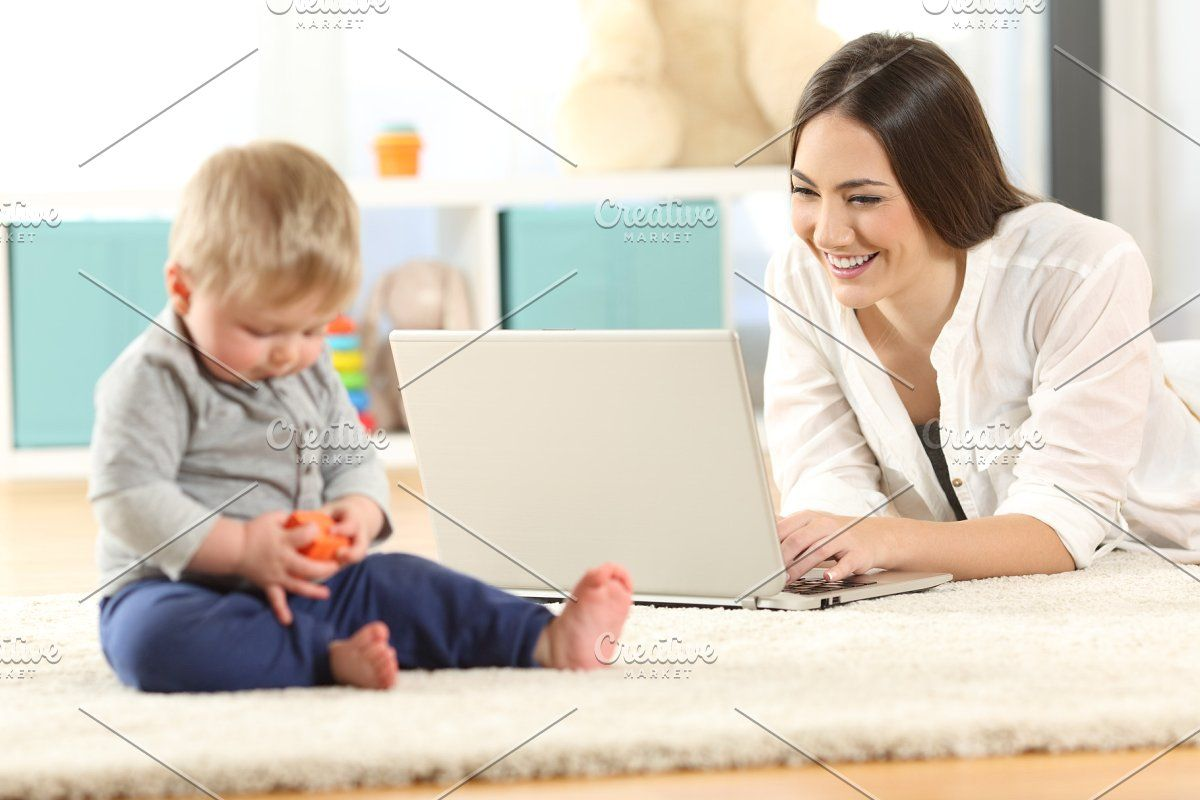 Mother showing media content in 2020 Nanny tax, Nanny