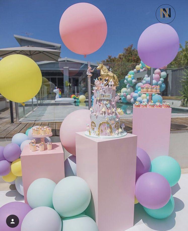 Unicorn Sweet 16 Party Bat Mitzvah Pastel Balloons House
