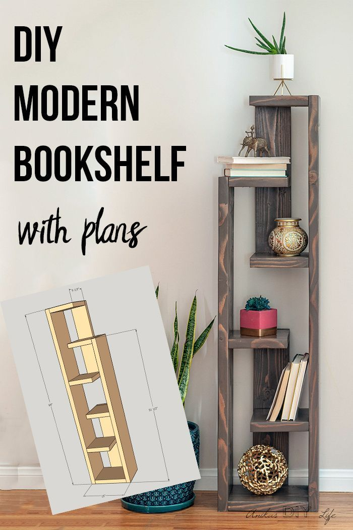 How To Build A Modern DIY Bookshelf - In 5 Steps