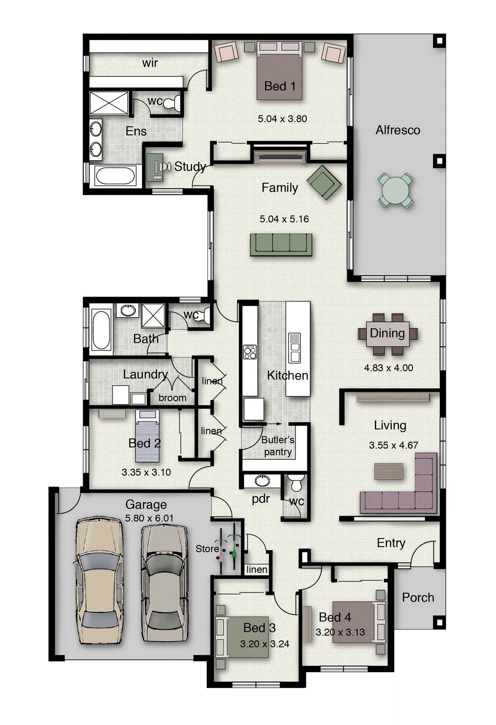 The Lockhart 310 is a uniquely designed family home with space for everyone.