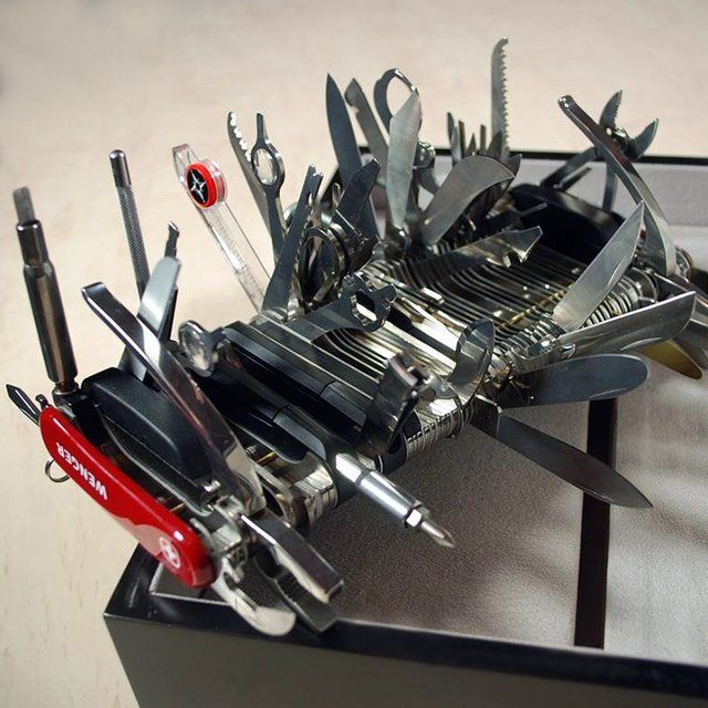 this giant swiss army knife from wenger is designed with an