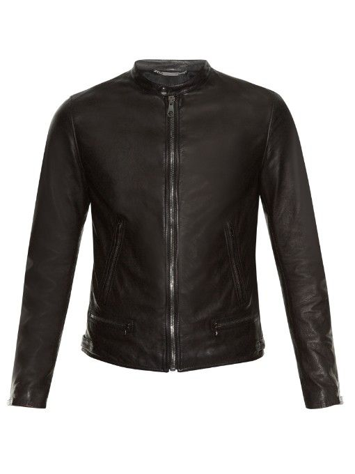 9bb7e2044 DOLCE & GABBANA Zip-Up Leather Bomber Jacket. #dolcegabbana #cloth ...