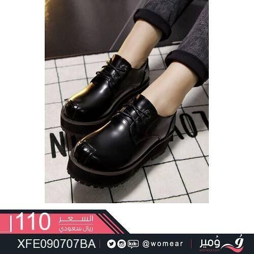 حذاء شيك يجمع بين الاستايل الكلاسيكي والعصري احذية بناتيه شوز نسائي ستايلات بنات دوام طلعات جامعة كشخة اناق Oxford Shoes Doc Martens Oxfords Shoes