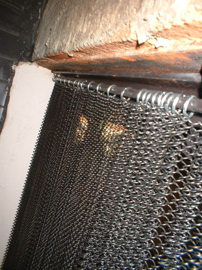 Custom Fabricated Mesh Curtain Fireplace Screen Fireplace