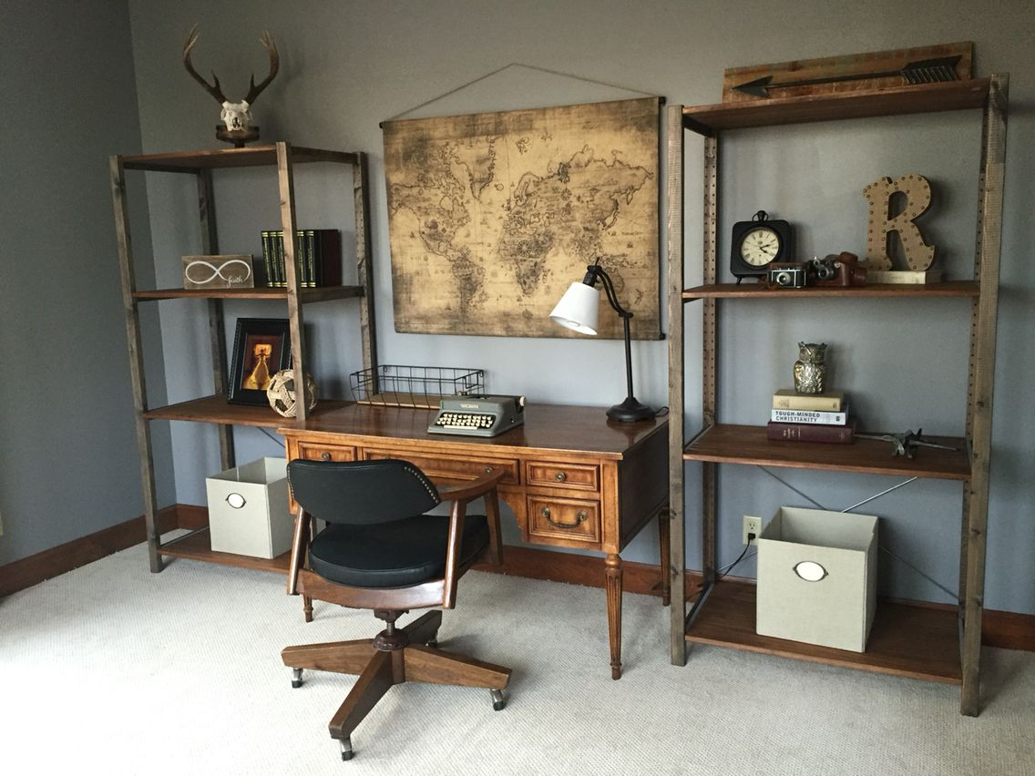Home office decorating idea Shelves from IkeaMap