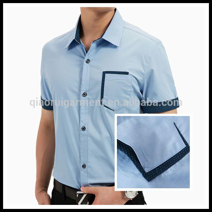2014 hombres de moda de alta 100% de algodón bolsillo especial singular camisas de manga corta-Camisas para Hombre-Identificación del producto:300004367259-spanish.alibaba.com