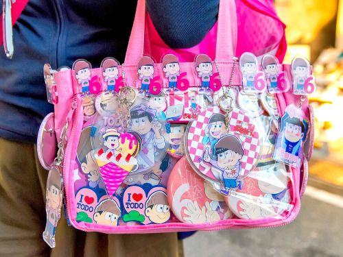 Osomatsu-san fan bags spotted near the...   Tokyo Fashion