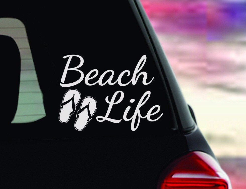 Vinyl Decal Beach life