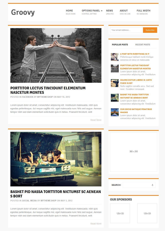 Groovy - free magazine style WordPress theme