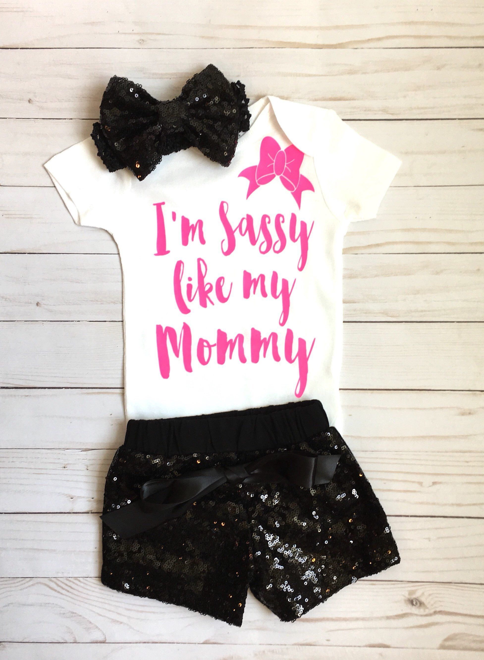 40dea3c2 Excited to share this item from my shop: Baby Girl Clothes, I'm Sassy Like  My Mommy Bodysuit, Girls Shirt, Mommy Shirts, Sassy Shirts, Baby Shower  Gift, ...
