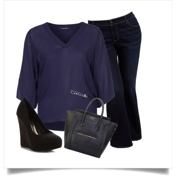 """""""Downtown Blues"""" by carissacase on Polyvore"""