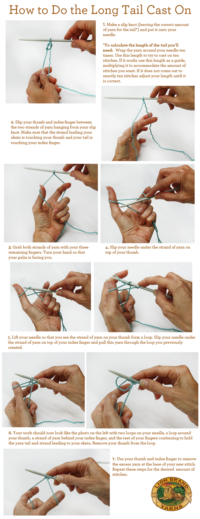 How To Cast On Knitting Stitches Long Tail : How to Do the Long Tail Cast On Crochet, Knit crochet and Yarns