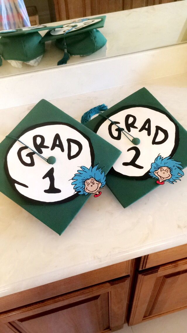 graduation cap for twins school graduation grad cap