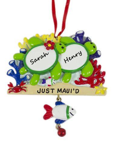 PAIR OF HONU JUST MAUI'D ORNAMENT | Christmas ornaments ...