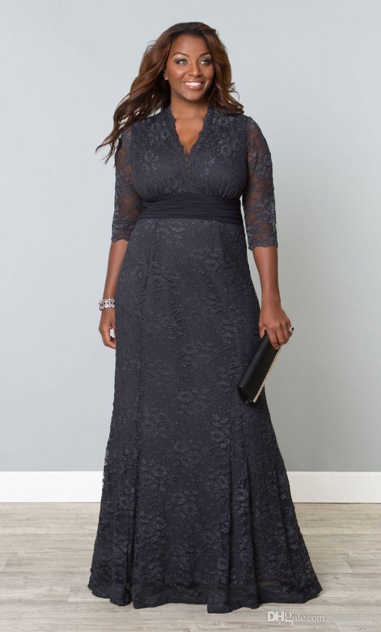 2016 plus size lace mother of the bride dresses v neck