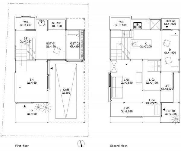 Haus na design architektur plan ruhend - Architektur plan ...
