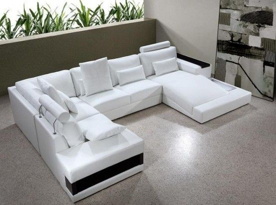 Living Room Furniture Ideas Leather Sectional Sleeper Sofa Topsdecor Com In 2020 Modern Leather Sectional Sofas White Leather Sofas Modern Sofa Sectional