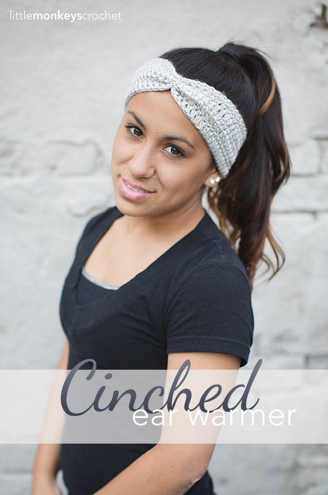 Cinched Ear Warmer Headband (Free Pattern!) | Pinterest | Häkeln