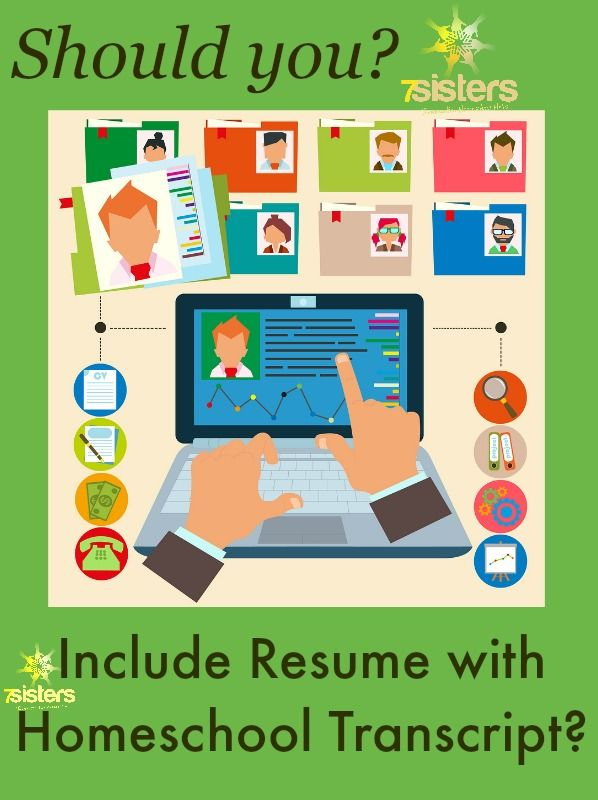 Should You Include Resume with Homeschool Transcript? Homeschool - what should a resume include