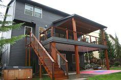 Happy Valley Main Floor Remodel Modern Deck Portland By Fouch Building Remodeling Patio Deck Designs Modern Deck Deck Renovation
