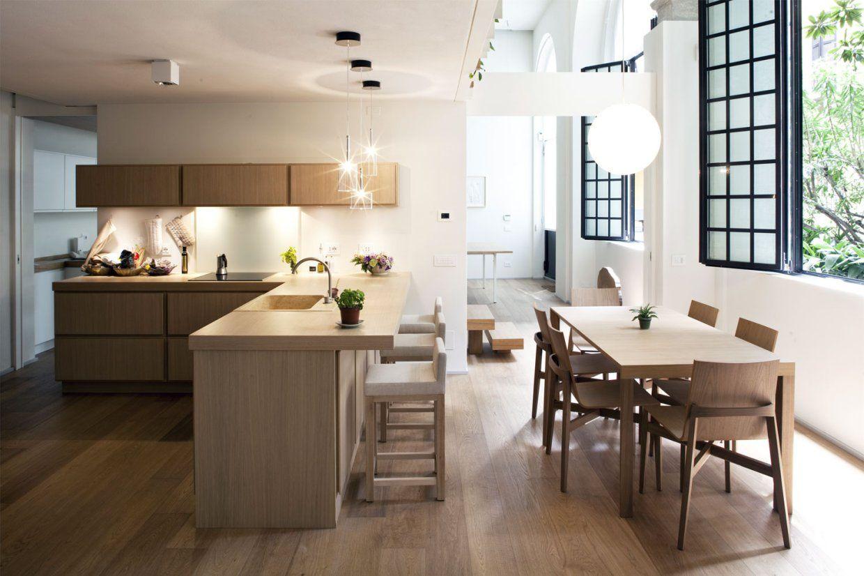 Contemporary Residence In Milan Italy Kitchen Design Modern Kitchen Island Rustic Kitchen