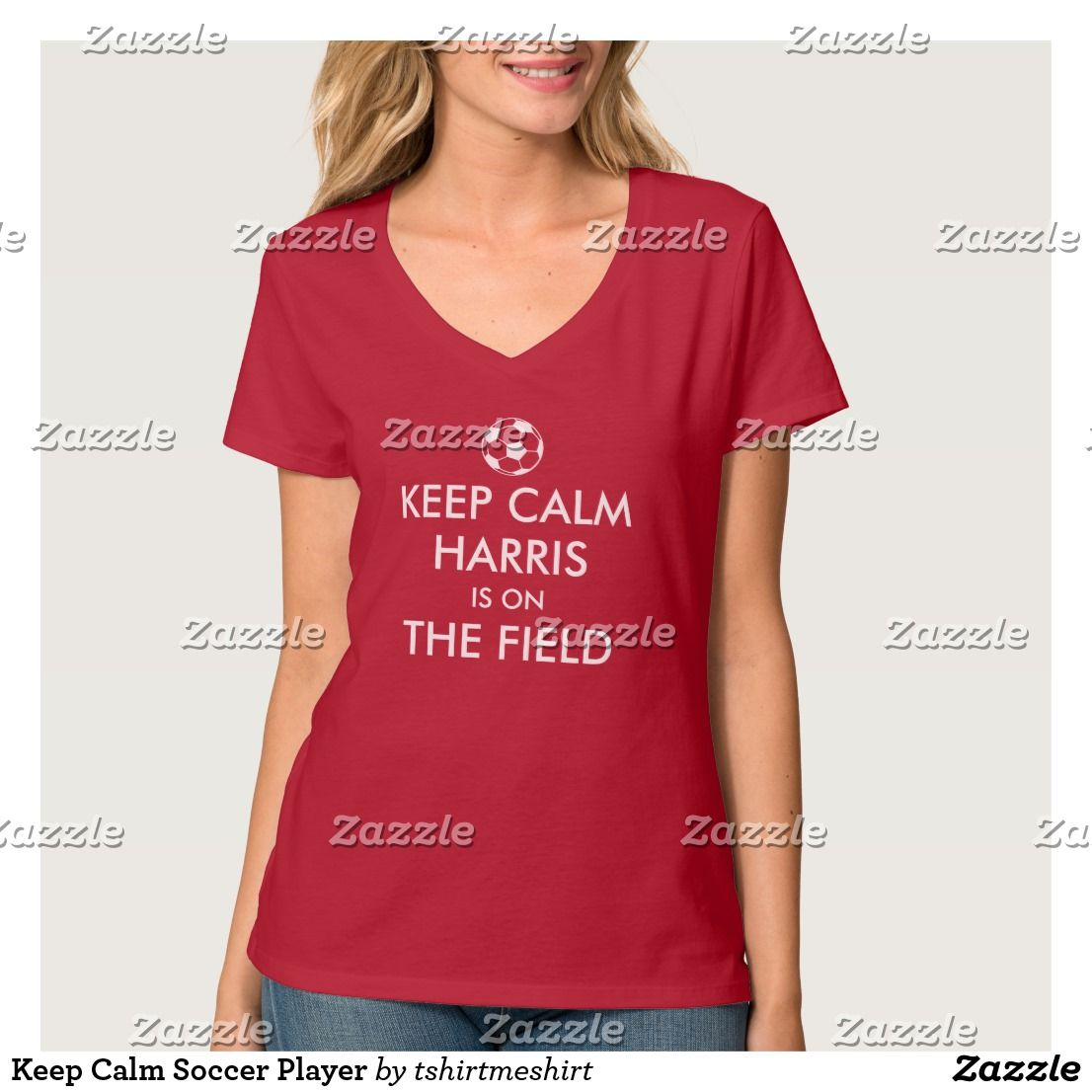 Keep Calm Soccer Player T-Shirt