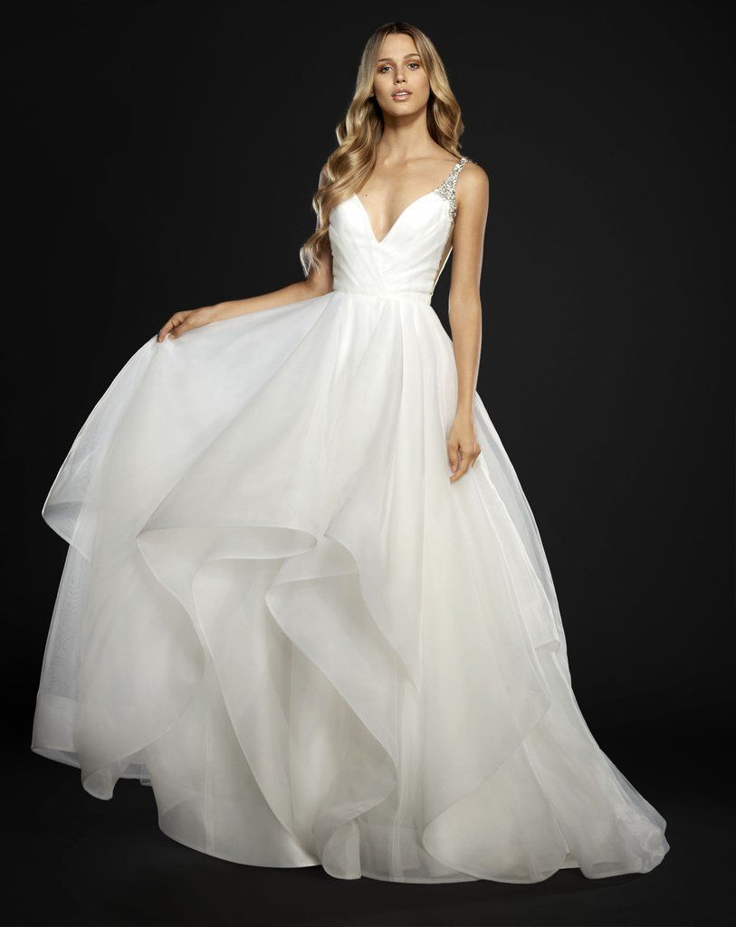hailey page cross back dress in 2020 | Wedding dresses