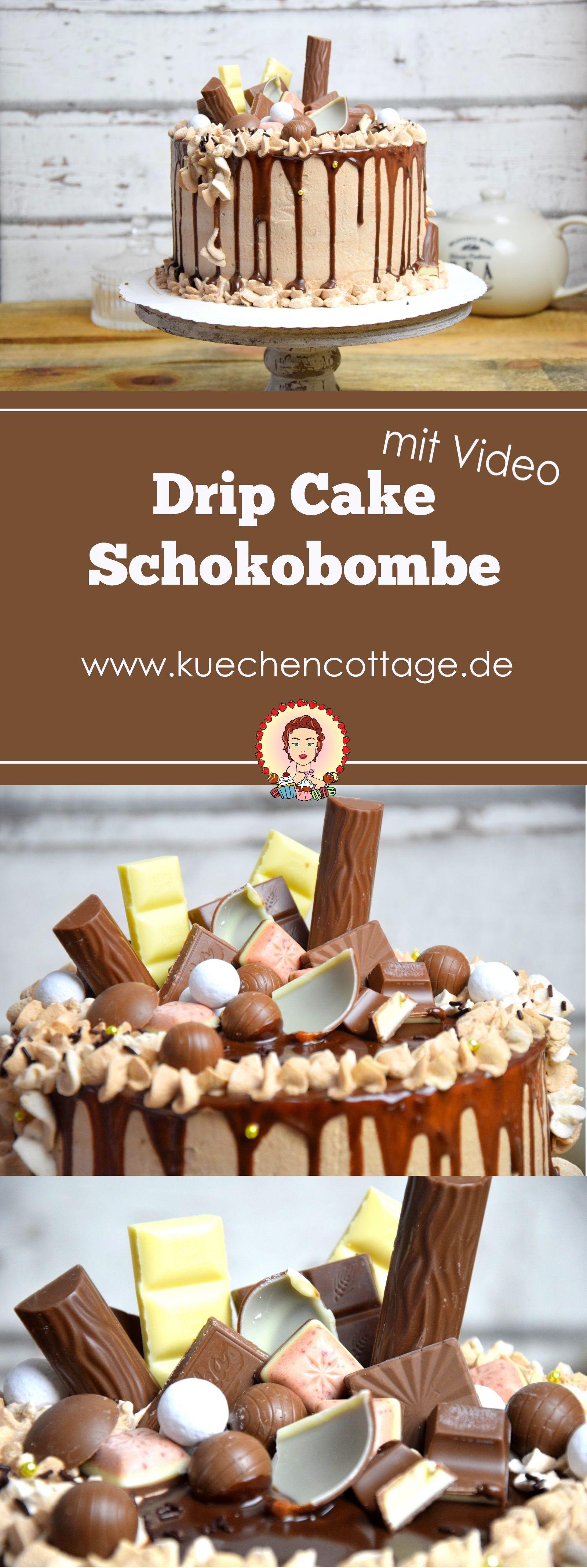 Drip Cake Schokobombe #cakedesigns