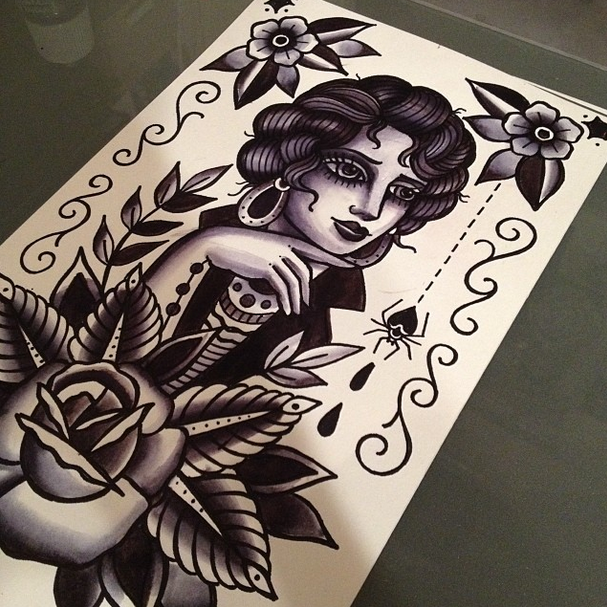 Traditional Tattoo drawn by:  Matthew Houston @matthew_houston Vancouver