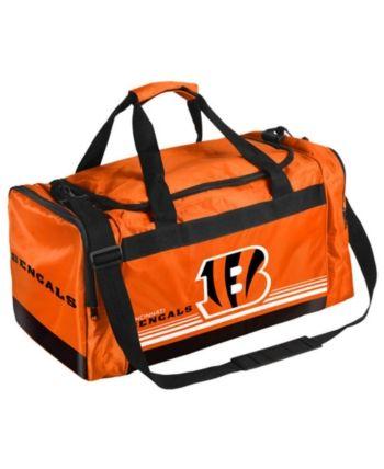 c86b230f Forever Collectibles Cincinnati Bengals Striped Core Duffle Bag ...