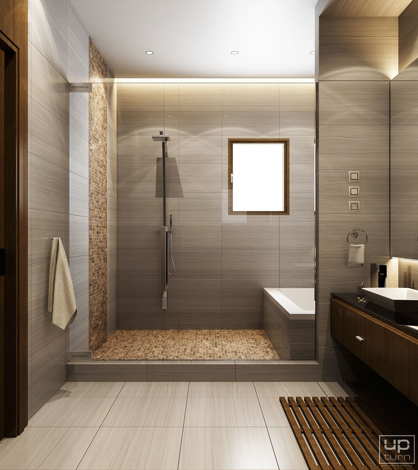 Modern bathroom on Behance  Big bathrooms, Modern bathroom design