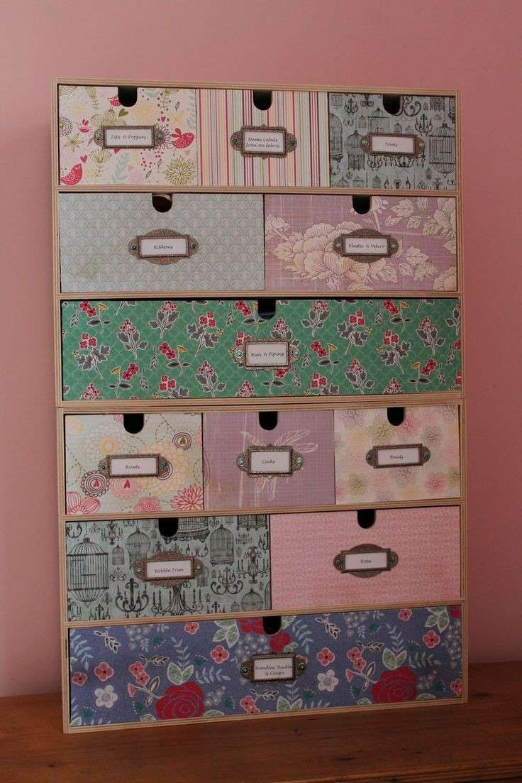 Mini Cassettiera Fai Da Te cassettiere fai da te (con immagini) | decoupage mobili
