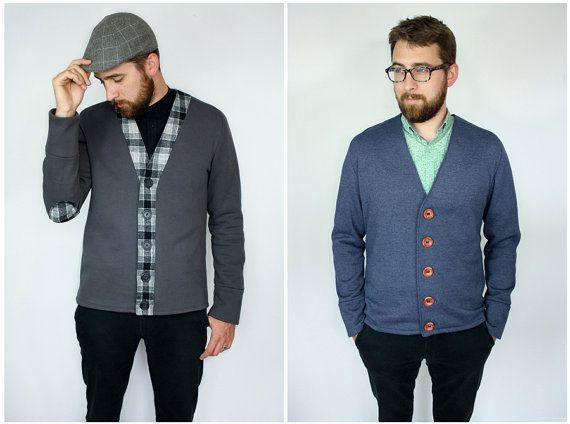 The Auden Men\'s Knit Cardigan PDF Sewing Pattern SX to XL | Nähideen