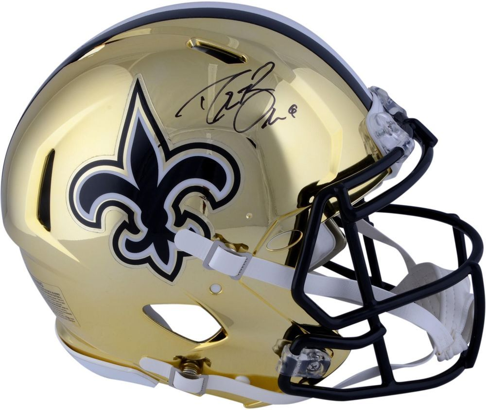 Autographed Drew Brees Saints Helmet Fanatics Authentic COA Item 9019960 2efeebe09