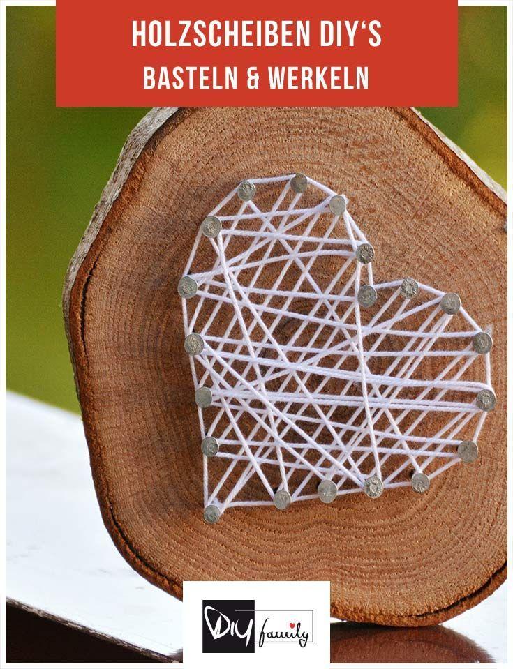 Holzscheiben - 6 DIY-Ideen für eine rustikale Einrichtung #holzscheibendeko