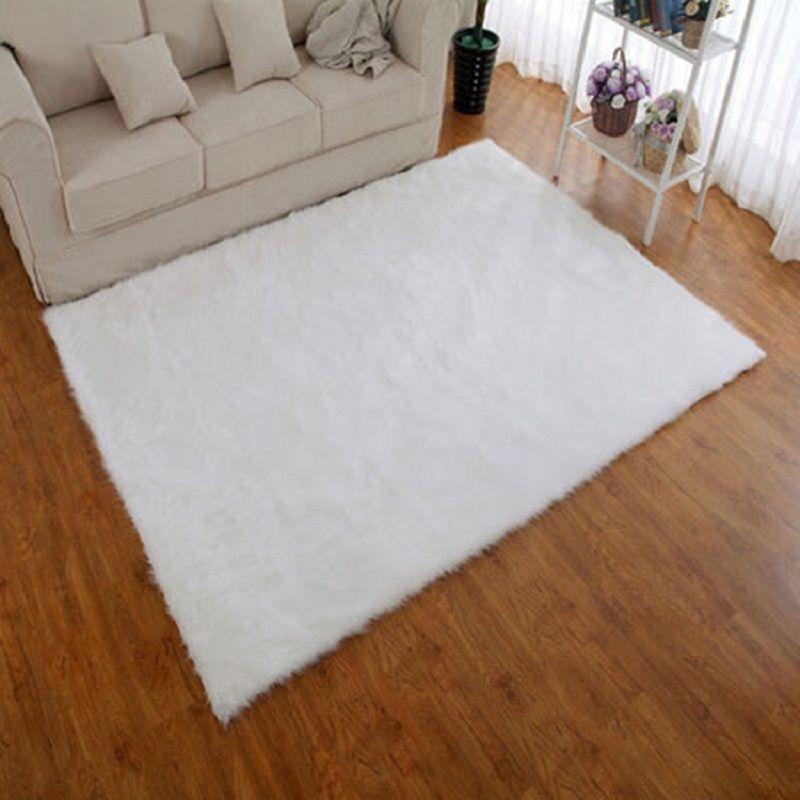 white faux fur rug bape mat 80160cm living room alfombras para la sala carpets