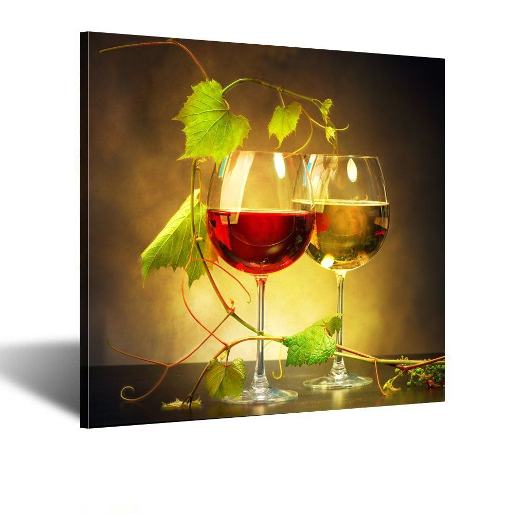 Creative Art - Modern Giclee Prints Artwork Two Glasses of Red and ...