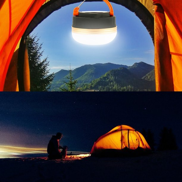 Outdoor LED Camping Light USB Rechargeable Magnet Tent Lamp Hiking Lantern Lamp