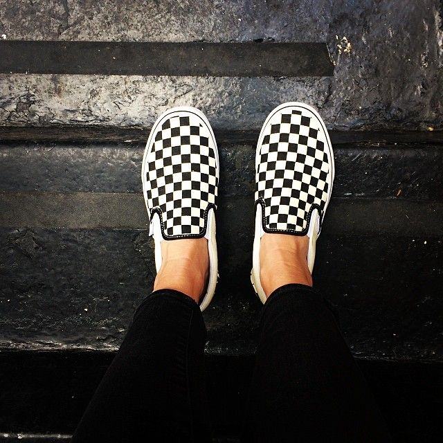 Classic checkerboard slip-on Vans ( clickmasterflex on Instagram ... ae25ecfb52