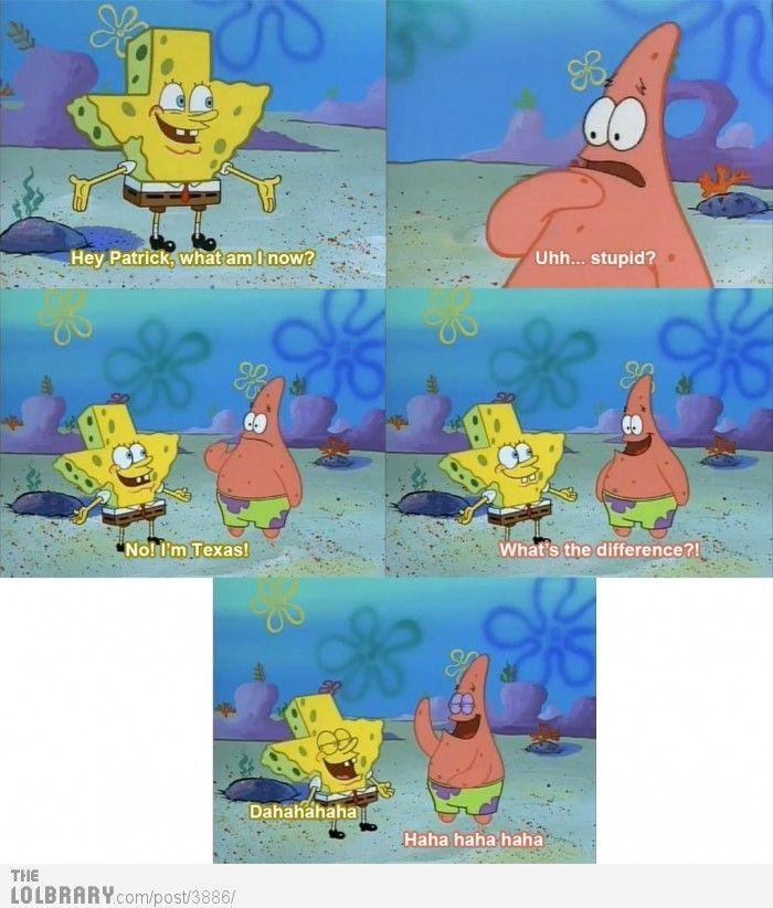 Spongebob Hey Patrick What Am I Patrick Uh Stupid Spongebob
