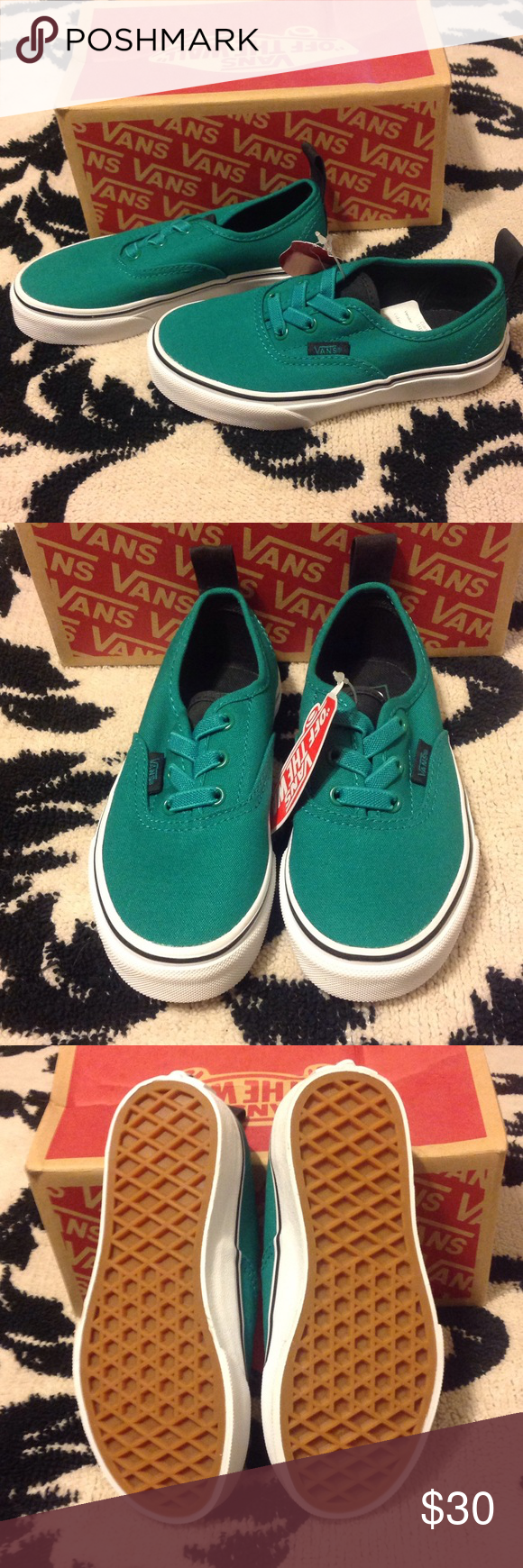 Authentic elastic (Canvas) ultramarine green Vans Shoes Sneakers ... b38a86caa