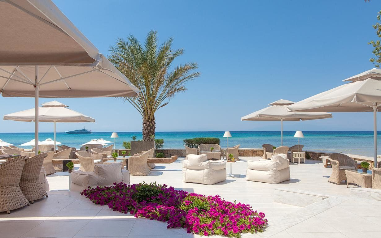 12 Amazing Hotels For The Best All Inclusive Holidays To Greece Best Beaches In Europe Greece Hotels Greece Resorts