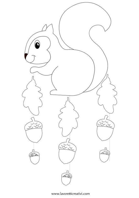 eichhörnchen  basteln herbst basteln herbst fensterbild