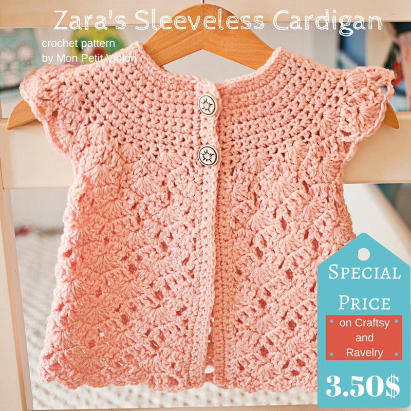Come to see my newest pattern – Zara\'s Sleeveless Cardigan ...
