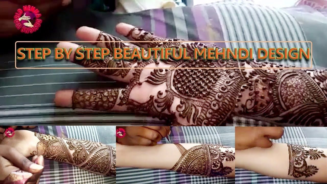 Latest most beautiful arabic mehndi design for full hands  easy also rh pinterest