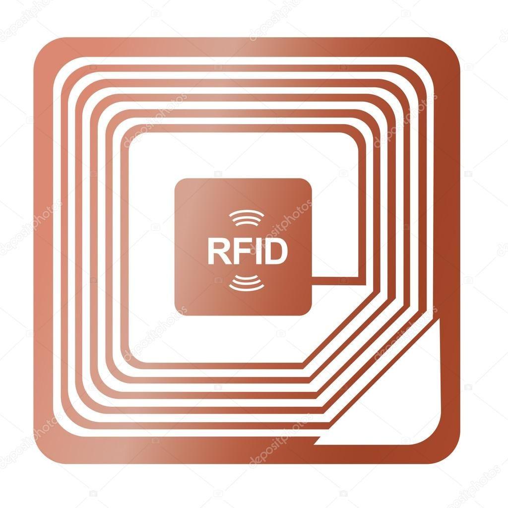 8737656 Stock Illustration Rfid Chip Radio Label Award Were Stolen