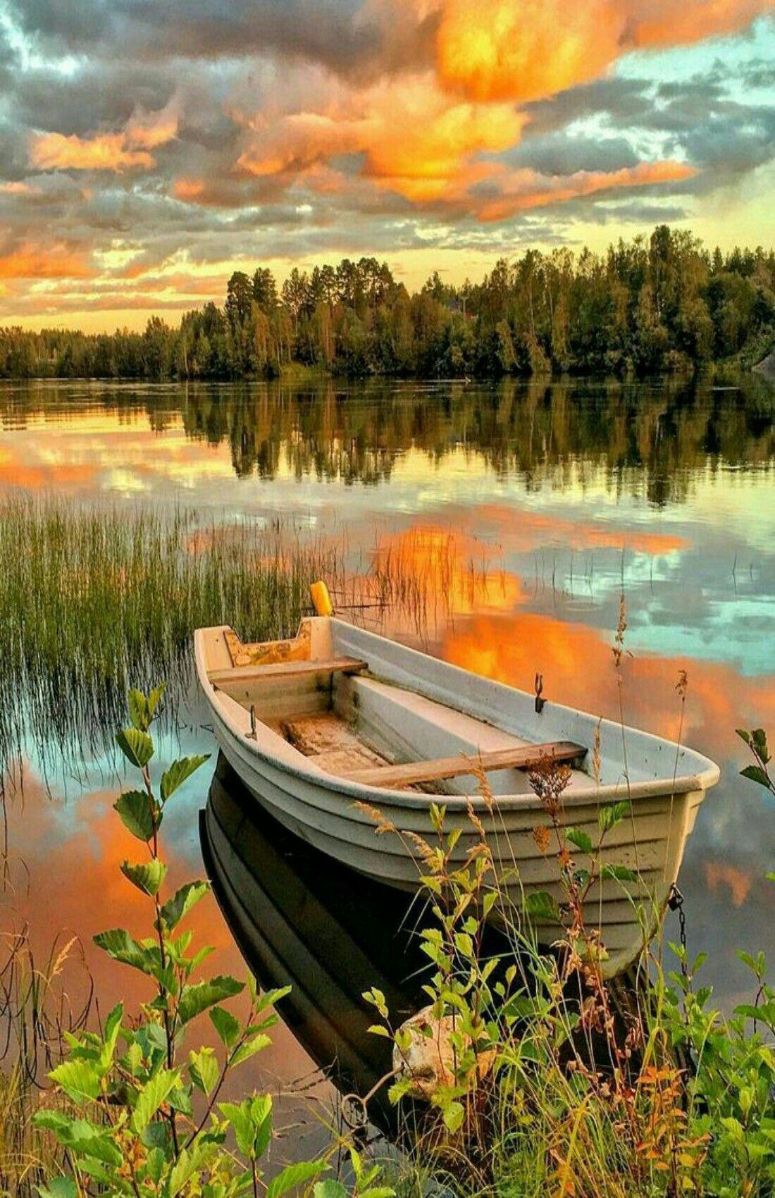 Naturbilder: schöne #Naturbilder #Natur #Boot #Himmel # ...