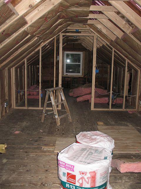 Insulation Almost Complete Attic Attic Renovation Attic Spaces